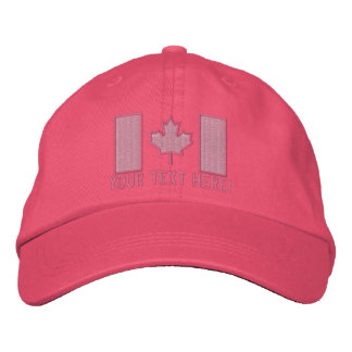 Personalized Large Canadian Flag Embroidery Embroidered Hat
