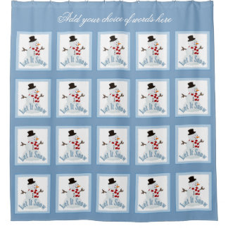 Personalized Let It Snow Shower Curtain