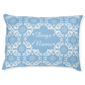 Personalized Light Blue White Lace