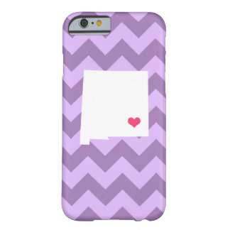 Personalized Lilac Purple Chevron New Mexico Heart Barely There iPhone 6 Case