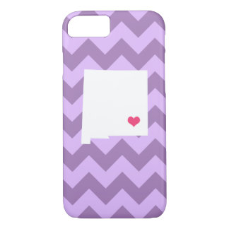 Personalized Lilac Purple Chevron New Mexico Heart iPhone 8/7 Case