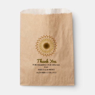 Personalized Lotus Fall Wedding Favour Bags