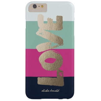 Personalized   Luxe Stripes Barely There iPhone 6 Plus Case