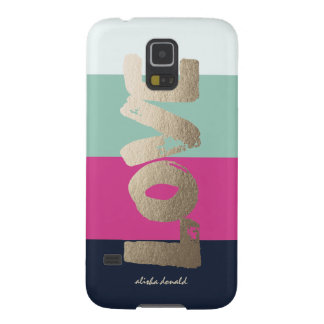 Personalized | Luxe Stripes Case For Galaxy S5
