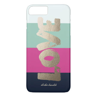 Personalized | Luxe Stripes iPhone 7 Plus Case