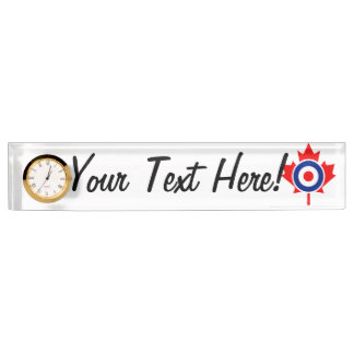 Personalized Maple Leaf Roundel Mod CANADA Desk Name Plates