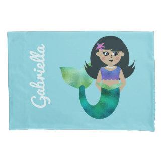 Personalized Mermaid Latino Trendy Faux Foil Girls Pillowcase
