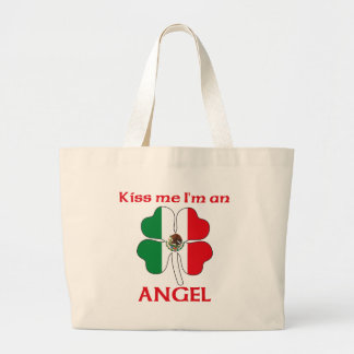 Personalized Mexican Kiss Me I'm Angel Canvas Bags
