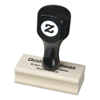 Personalized Modern Simple Return Address Office Rubber Stamp
