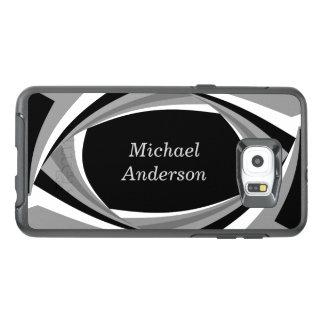 Personalized Modern Stylish Black White Grey OtterBox Samsung Galaxy S6 Edge Plus Case