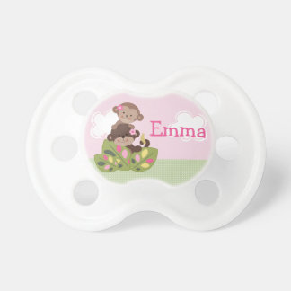 """Personalized """"Monkey Girl Sisters"""" Pacifier"""