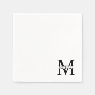 Personalized Monogram and Name Paper Napkins