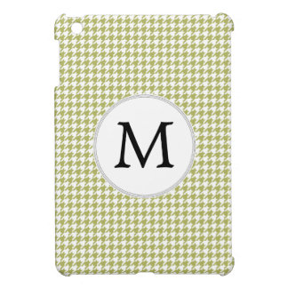 Personalized Monogram Olive houndstooth Pattern Cover For The iPad Mini