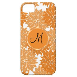 Personalized Monogram Orange Flower Blossoms iPhone 5 Case