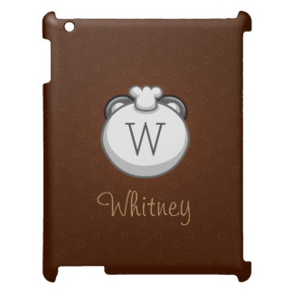 Personalized Monogram Panda   Elegant Brown Cover For The iPad 2 3 4