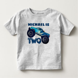Personalized  Monster Truck 2nd Birthday Toddler T-Shirt