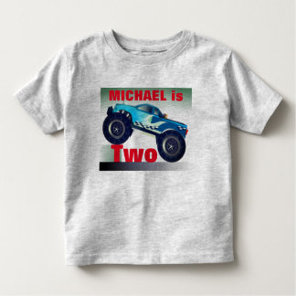 Personalized  Monster Truck Birthday Toddler T-Shirt