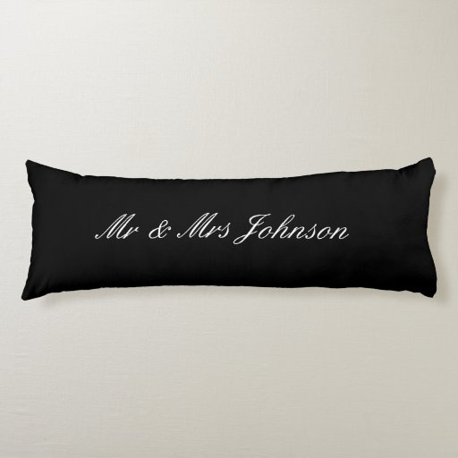 Personalized Mr and Mrs body pillow for newly weds