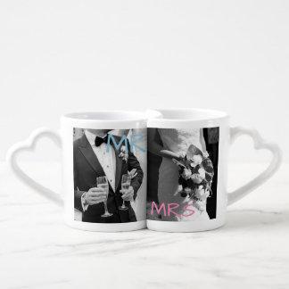 """Personalized """"Mr & Mrs"""" Coffee Mugs"""