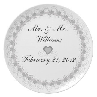 Personalized Mr. & Mrs. Keepsake Plate