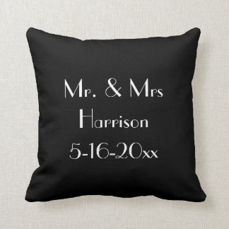 Personalized Mr. & Mrs. Wedding Anniversary Pillow