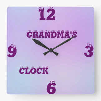 Personalized Multi Tone Square Wall Clock