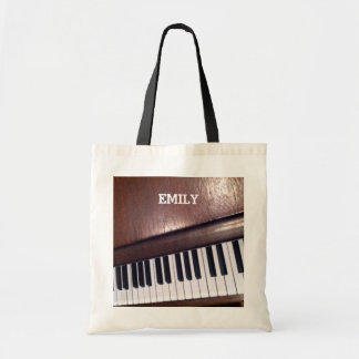 personalized music gift budget tote bag