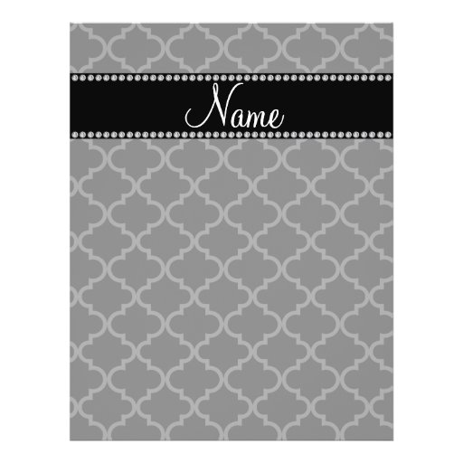 Personalized name Black moroccan Full Color Flyer