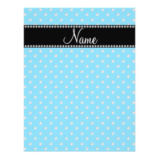Personalized name blue diamonds full color flyer