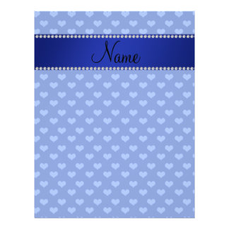 Personalized name blue hearts full color flyer