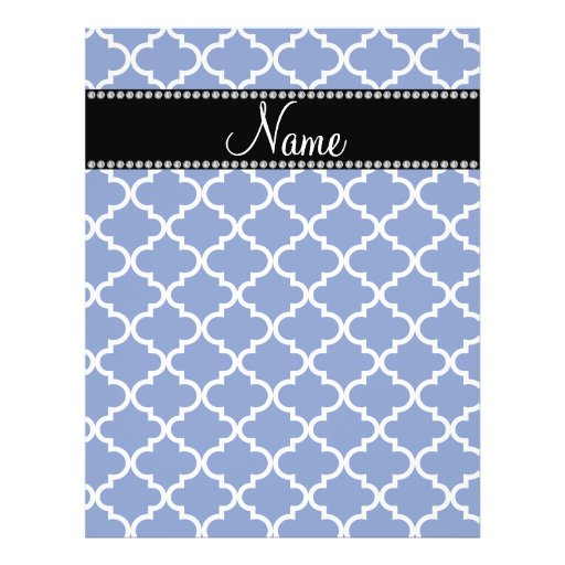 Personalized name Blue moroccan Flyer