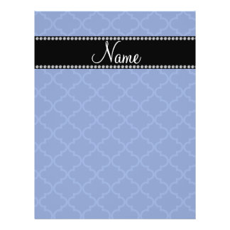 Personalized name Blue moroccan Full Color Flyer
