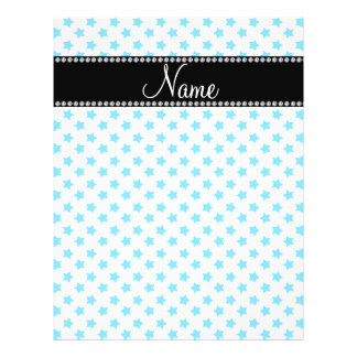 Personalized name Blue stars Flyers