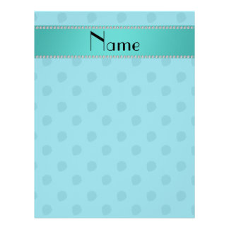 Personalized name blue strawberries pattern 21.5 cm x 28 cm flyer