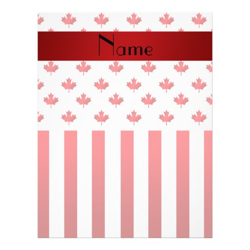 Personalized name Canada Flyer Design