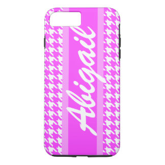 Personalized Name Cute Houndstooth Pattern iPhone 7 Plus Case