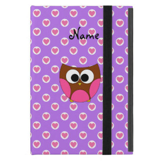 Personalized name cute owl cases for iPad mini