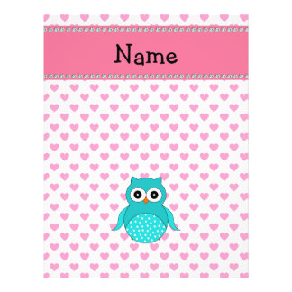 Personalized name cute owl flyer