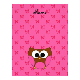 Personalized name cute owl flyer design