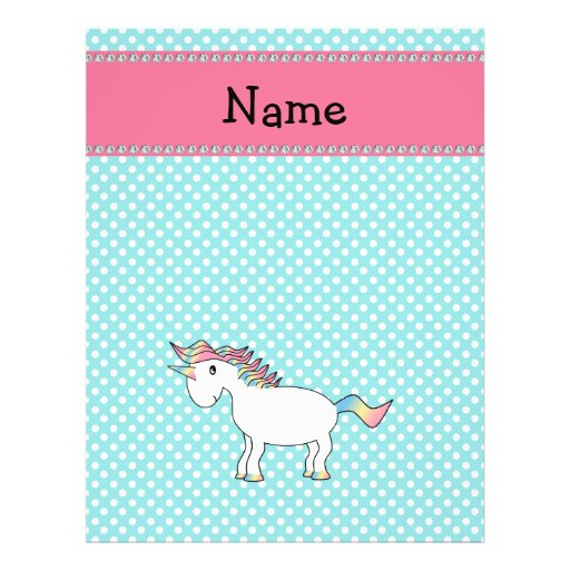 Personalized name cute unicorn personalized flyer