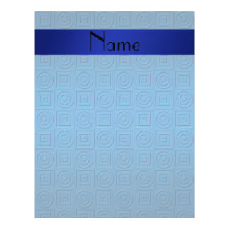 Personalized name dark blue square circles 21.5 cm x 28 cm flyer