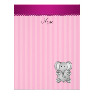 Personalized name elephant stripes personalized flyer