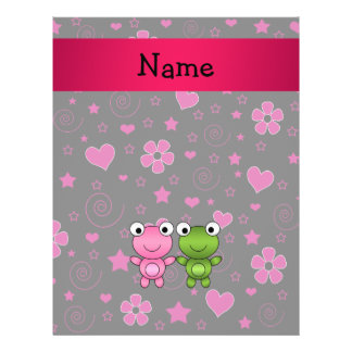 Personalized name frogs hearts flowers stars flyer design