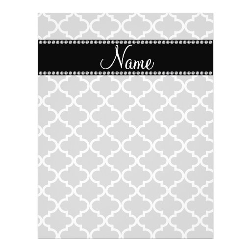 Personalized name Gray moroccan Flyers