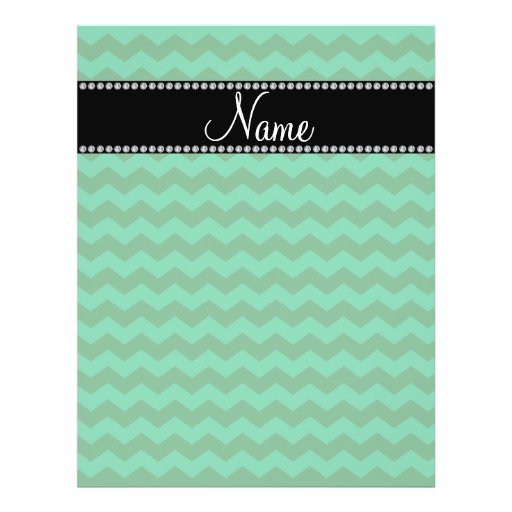 Personalized name green chevrons custom flyer