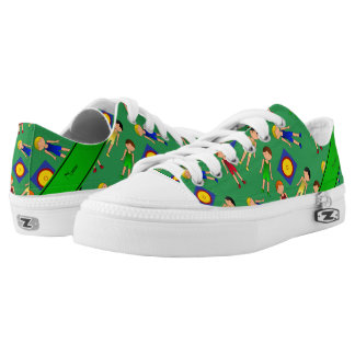Personalized name green cute boy wrestlers mat low tops
