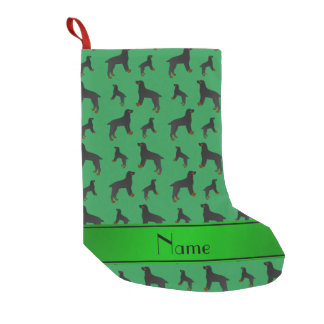 Personalized name green field spaniel dogs small christmas stocking