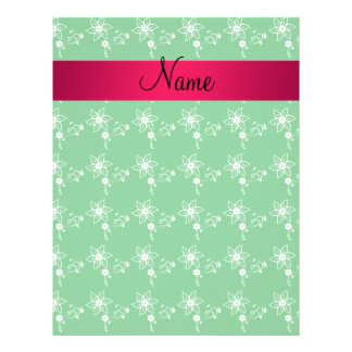Personalized name green flowers full color flyer