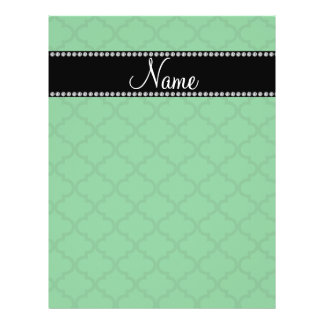Personalized name Green moroccan Custom Flyer