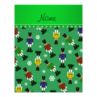 Personalized name green nutcrackers 21.5 cm x 28 cm flyer